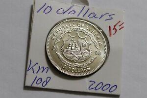 LIBERIA 10 DOLLARS 2000 JFK B38 PP47