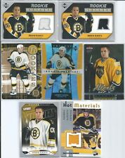 Andrew Alberts  Boston Bruins  05/06  7- Rookie Card RC Lot  w/Jersey & High End