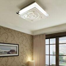 vidaXL Ceiling Lamp Glass Square E27 Pattern Home Lighting Fixture Chandelier
