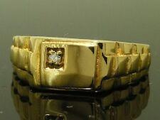 Diamond Yellow Gold Signet Rings for Men