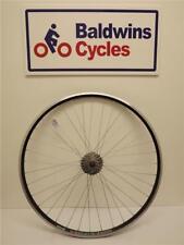 700c REAR Road Bike Wheel - Q/R - WEINMAN Rim BLACK + 10 SPEED SHIMANO CASSETTE