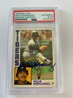 Willie Hernandez autograph signed 1984 Topps baseball card PSA DETROIT TIGERS