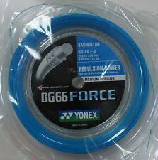 YONEX BG66 FORCE 200M COIL BADMINTON STRING CYAN COLOUR LEE CHONG WEI'S STRING