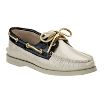 Sperry Top Sider Black Nude Patent Leather Women's Boat Shoes Size 6.5 M 1101