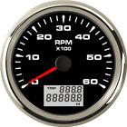 1pc 0-6000RPM Tachometer Gauges with Odo Hourmeter 8 Kinds Backlight Color Black