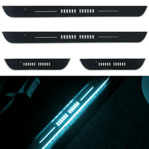 Acrylic LED Car Door Sill Flowing Plate Lamps Welcome Pedal Light RGB USB Charge