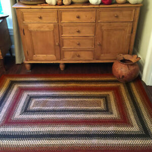 HOMESPICE BRAIDED JUTE FARMHOUSE COUNTRY RUSTIC RUGS ~ CHESTER RED BROWN NATURAL