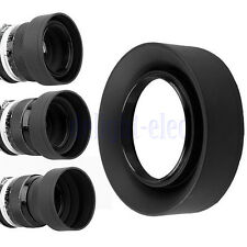67mm 3-in-1 3-Stage Collapsible Rubber Lens Hood for Canon Nikon DSLR Camera DE