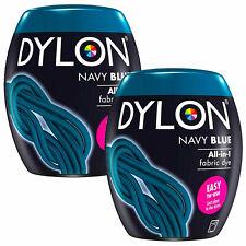 DYLON Washing Machine Fabric Dye Pod, Navy Blue, 2 Packs of 350g