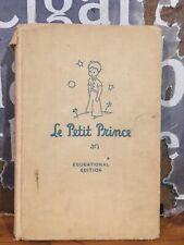 "Nice Antoine de Saint-Exupery ""Le Petit Prince"" Rare Educational Edition 1946"