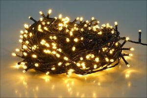 Weihnachts Lichterkette für Innen und Außen - 40 LED warmweiß - Party Deko weiß