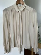 Country Road Pussy Bow Silk Shirt XS