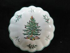 "Spode Christmas Tree 6 1/2"" Ruffled Serving Bowl, England"