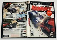 Burnout Dominator PS2 Sony PlayStation 2 Complete Manual Tested Working