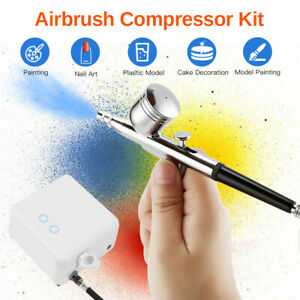 Portable 15 Set Airbrush Compressor Set Nail Hobby Nail Art Tattoo Gravity Feed
