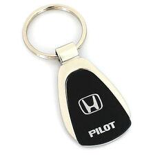 Honda Pilot Black Tear Drop Metal Key Ring