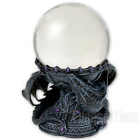 ANNE STOKES DRAGON BEAUTY HOLDER WITH 11CM CRYSTAL BALL HEALING WICCA PAGAN