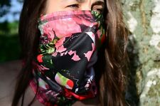 New Woman Neck Gaiter Scarf Face Mask Balaclava Skulls and Flowers