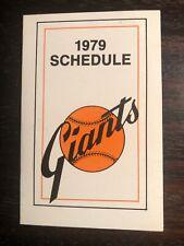 San Francisco Giants--1979 Pocket Schedule--Ticketron