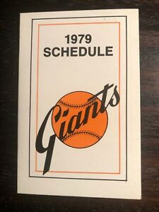 San Francisco Giants--1979 Pocket Schedule--Ticketron
