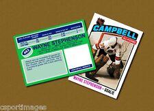 Wayne Stephenson - Campbell All Stars - Custom Hockey Card  - 1975-76