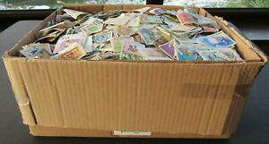 HUGE STAMP COLLECTION ON/OFF PAPER - IN LARGE BOOT BOX - ALL PERIODS - 30,000++