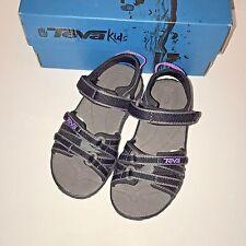 Teva Tirra 8 M Toddler Sandals Shoe Little Kid Black Grey Purple Hook-and-loop