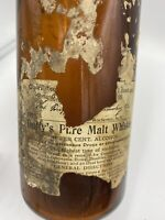 "Antique ""The Duffy Malt Whiskey Company Rochester, NY Embossed Amber Bottle 1886"