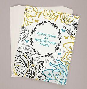 50 x A4 Craft Jones Freezer Paper Sheets + 5 FREE SHEETS