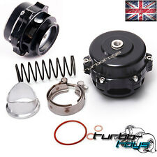 UNIVERSAL 50MM BLACK MONSTER BLOW OFF VALVE BOV TIAL STYLE + FLANGE + 2 SPRINGS