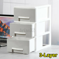 3 Layers Desk Organizer Box Cosmetic Storage Drawers Home Bedside Office Tidy