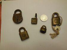 Vintage Lot of Various Small Locks  Padlock