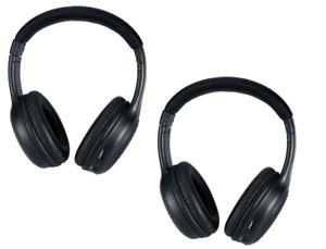 Dodge Grand Caravan Wireless Headphones - Leather Look Two Channel IR