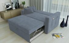RAVENA 2 Seat Click Clack Pull out Sofa Bed Living Room Lounge Grey Fabric