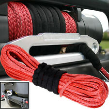 "50'X1/4"" Dyneema Synthetic Winch Rope Cable ATV SUV Recovery Replacement 6400LBs"