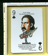 Frank Zappa Rock Roll Playing Card; Swap Card; I Am The Slime; Single Card; Nm/M