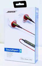 BOSE SOUNDSPORT IN EAR HEADPHONES MFI POWER RED.