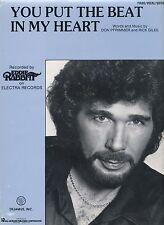 Vous mettez le battement de mon cœur-Eddie Rabbitt - 1983 SHEET MUSIC