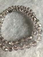 1930s Vintage Glass Necklace Faceted Clear Beads Beaded Jewellery Jewelry Retro
