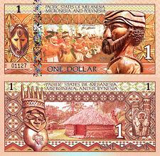 PACIFIC STATES MELANESIA MICRONESIA & POLYNESIA 1 Dollar Fun-Fantasy Note 2018