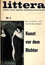 Böckmann, littera vol. 4, arte prima D. giudici, erotico arte od osceno porno 1964