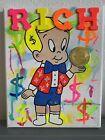 8x10 Uv Black Light Supreme Richie Rich  Painting Graffiti Acrylic Art