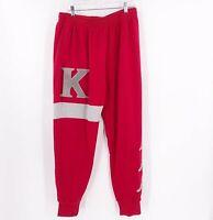 Kappa Men's Authentic Bartus Sweatpants Joggers Pants Size XL Red Gray NWT