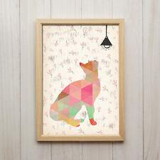 Kunstdruck DIN A4 Katze Modern Abstrakt Bild Wand Deko Haustier