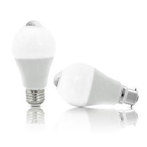 Auraglow 12W Indoor PIR Detector Motion Activated Sensor LED Light Bulb (75w)