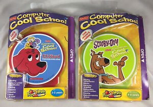 NEW 2 Fisher Price COOL SCHOOL computer games Clifford And Scooby Doo