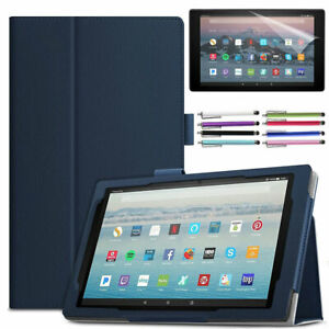 PU Leather Stand Case For Amazon Kindle Fire HD 10 2021/2019/2017 Tablets