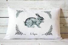 """Coniglio Lapin - 12 x 18 """"lombari Stile Copricuscino Shabby Chic Vintage rurale"""