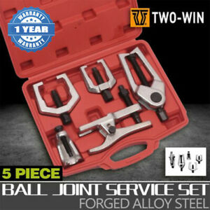 5pcs Front End Service Tool Kit Ball Joint Tie Rod Set Pitman Arm Puller Remover