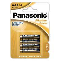 Pack de 4 Pilas Alcalinas PANASONIC Modelo AAA de 1.5 V en Blister Nuevo a3345